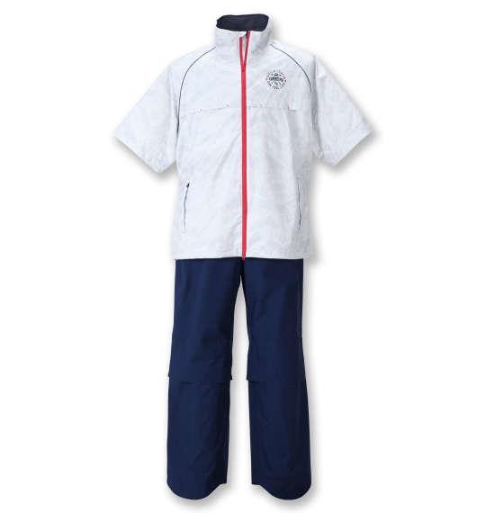 【golf3】大きいサイズ メンズ FILA GOLF レインウェア セット ホワイト × ネイビー 1276-1250-1 3L 4L 5L 6L