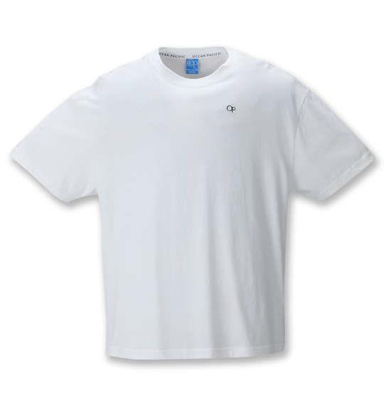 大きいサイズ メンズ OCEAN PACIFIC プリント 半袖 Tシャツ ホワイト 1278-1570-1 3L 4L 5L 6L 8L