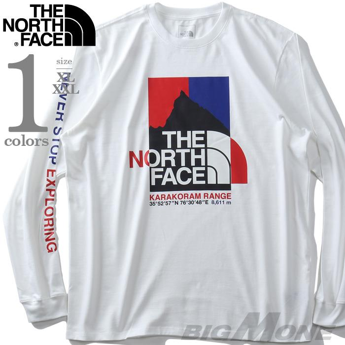 【ss0507】大きいサイズ メンズ THE NORTH FACE ザ ノース フェイス プリント ロング Tシャツ K2RM LS TEE USA直輸入 nf0a55uk