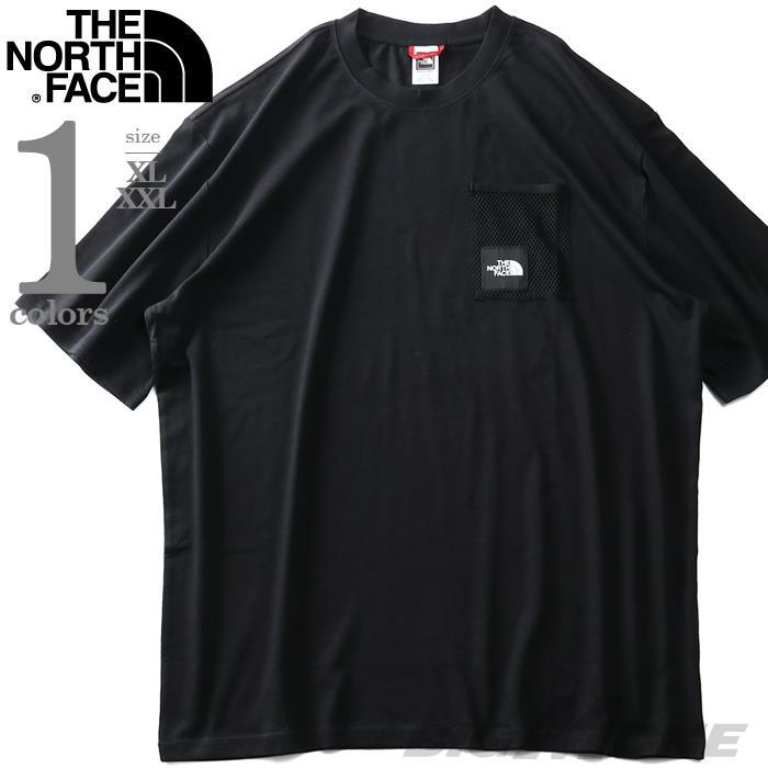 大きいサイズ メンズ THE NORTH FACE ザ ノース フェイス メッシュポケット付 半袖 Tシャツ BLACK BOX CUT TEE USA直輸入 nf0a557k