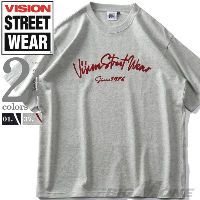 大きいサイズ メンズ VISION STREET WEAR チェーン刺繍 半袖 Tシャツ 春夏新作 1505710