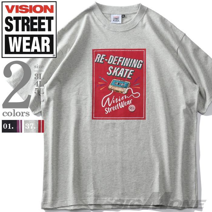 大きいサイズ メンズ VISION STREET WEAR ヴィンテージカセット 半袖 Tシャツ 春夏新作 1505713