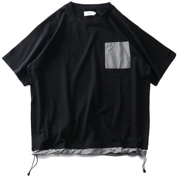 【Fbar210610】【pd0513】【sb0511】大きいサイズ メンズ ATELANE アテレーン ナイロンポケット付 半袖 Tシャツ 春夏新作 21a-14166-b