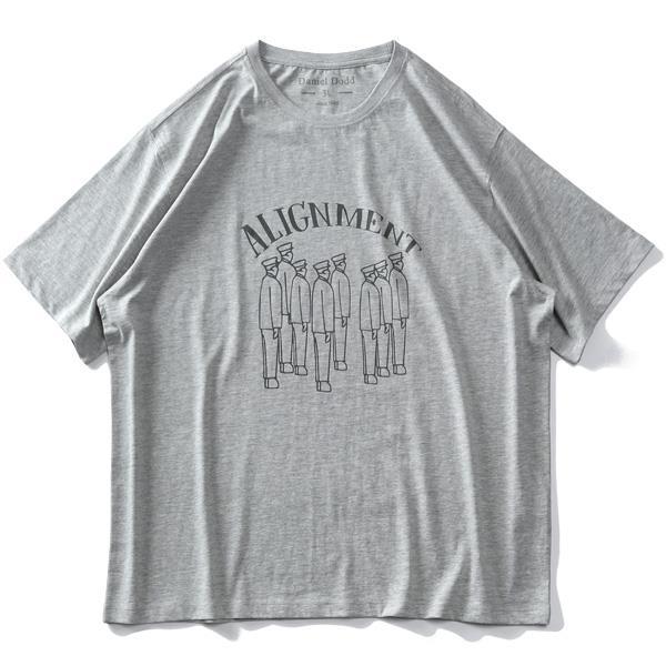【ga0722】大きいサイズ メンズ DANIEL DODD オーガニックコットン プリント 半袖 Tシャツ ALIGNMENT 春夏新作 azt-210265