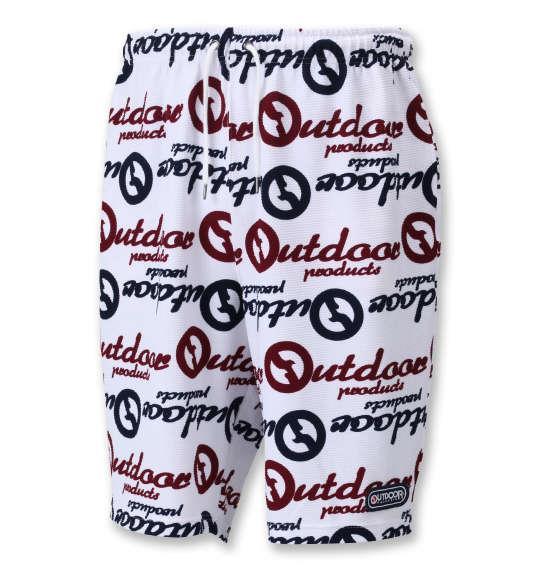 大きいサイズ メンズ OUTDOOR PRODUCTS ワッフル ハーフパンツ ホワイトロゴ 1254-1267-2 3L 4L 5L 6L 8L