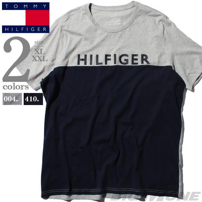 【bbar0610】大きいサイズ メンズ TOMMY HILFIGER トミーヒルフィガー ロゴ プリント 半袖 Tシャツ USA直輸入 09t4020