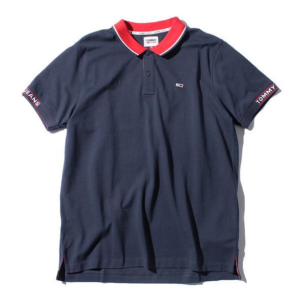 【bbar0610】大きいサイズ メンズ TOMMY JEANS トミージーンズ 鹿の子 半袖 ポロシャツ USA直輸入 dm0dm10326