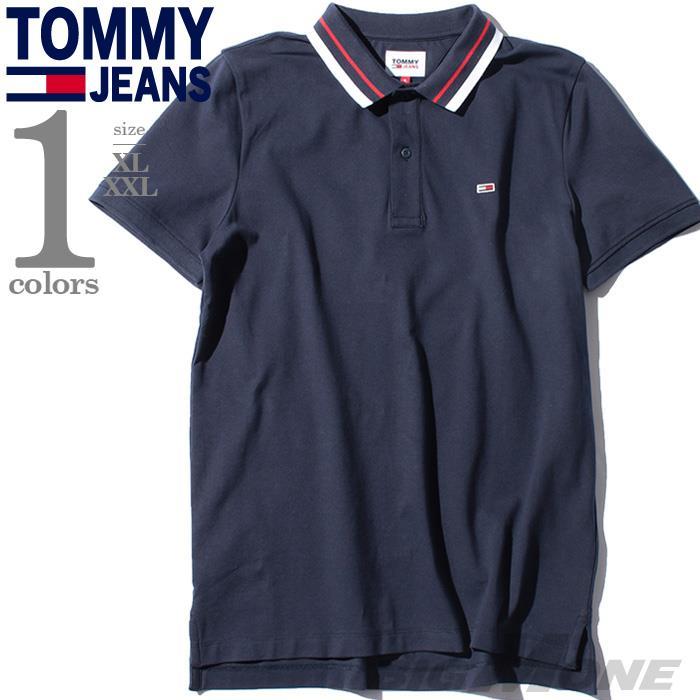 【bbar0610】大きいサイズ メンズ TOMMY JEANS トミージーンズ 鹿の子 半袖 ポロシャツ USA直輸入 dm0dm09440