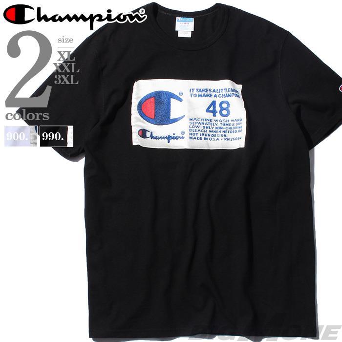【bbar0610】大きいサイズ メンズ Champion チャンピオン 半袖 ロゴ Tシャツ USA直輸入 gt19-586377