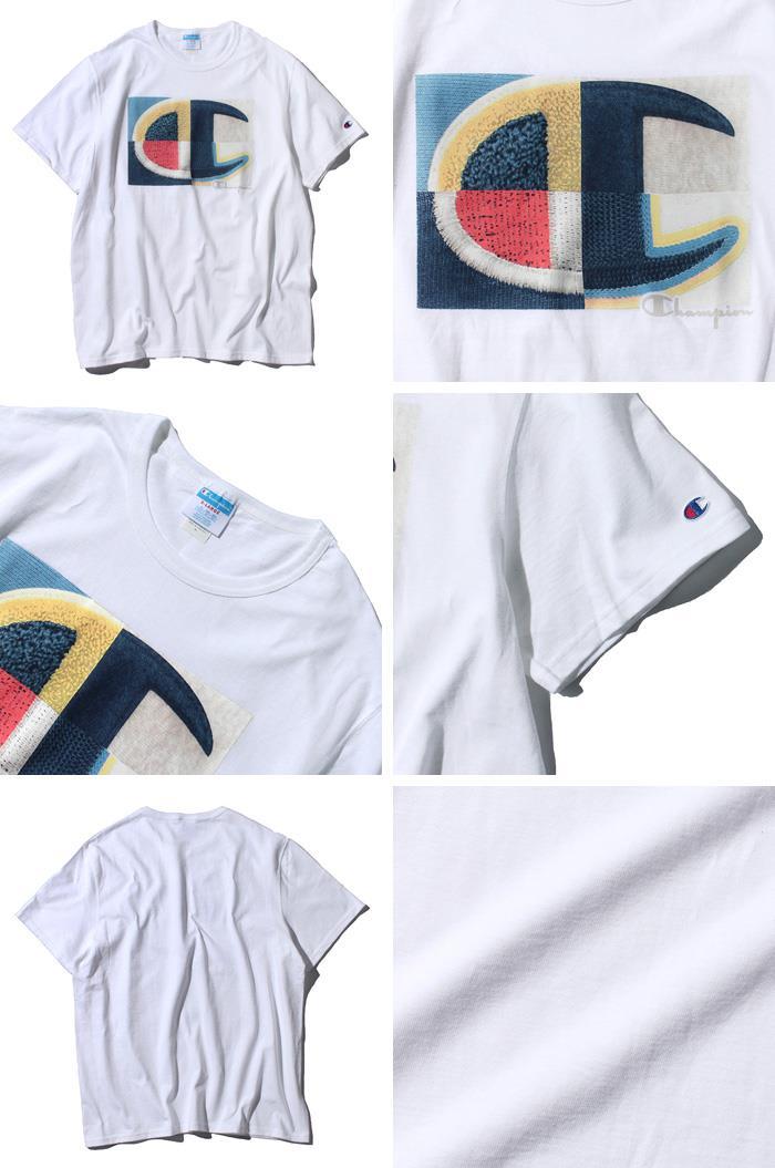 【bbar0610】大きいサイズ メンズ Champion チャンピオン 半袖 ロゴ Tシャツ USA直輸入 gt19-586376