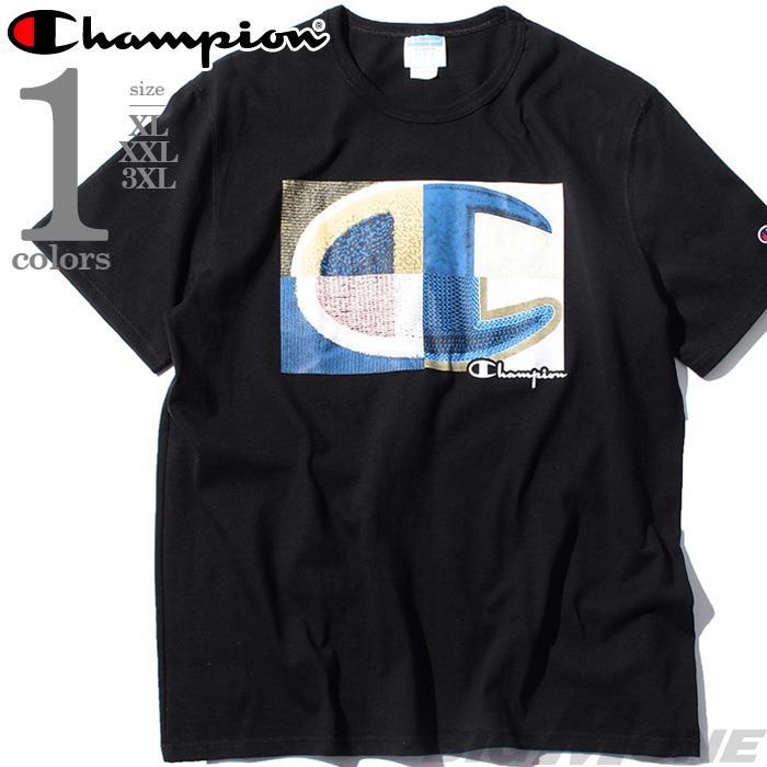 【bbar0610】大きいサイズ メンズ Champion チャンピオン 半袖 ロゴ Tシャツ USA直輸入 gt19-586466