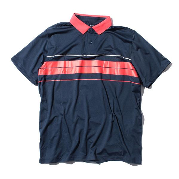 【bbar0610】大きいサイズ メンズ UNDER ARMOUR アンダーアーマー ボーダー柄 半袖 ゴルフ ポロシャツ USA直輸入 um0840