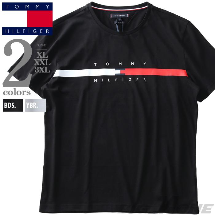 大きいサイズ メンズ TOMMY HILFIGER トミーヒルフィガー ロゴ プリント 半袖 Tシャツ GLOBAL STRIPE CHEST TEE USA直輸入 mw0mw16572