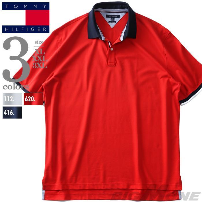 大きいサイズ メンズ TOMMY HILFIGER トミーヒルフィガー 鹿の子 半袖 ポロシャツ USA直輸入 13h2150