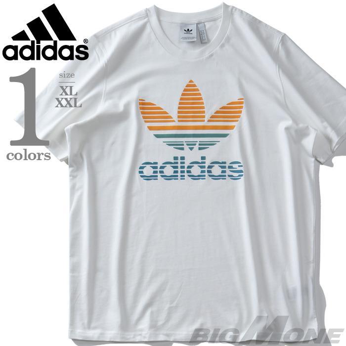 大きいサイズ メンズ ADIDAS アディダス トレフォイルロゴ 半袖 Tシャツ TREFOIL OMBRE TEE USA直輸入 gp0165