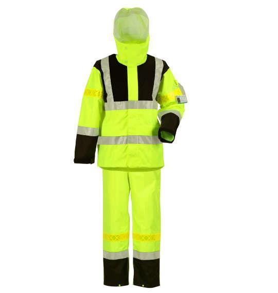 大きいサイズ メンズ DOQMENT 高視認性 レイン スーツ イエロー 1276-1380-1 4L 5L