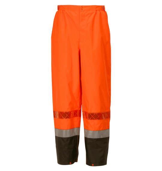 大きいサイズ メンズ DOQMENT 高視認性 レイン スーツ オレンジ 1276-1380-2 4L 5L