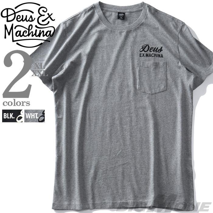 【ss0722】大きいサイズ メンズ DEUS EX MACHINA デウス エクス マキナ プリント 半袖 Tシャツ VENICE ADDRESS TEE USA直輸入 t-dms41065a