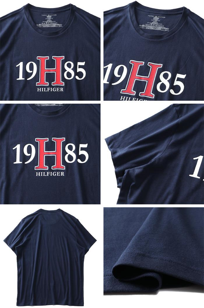 大きいサイズ メンズ TOMMY HILFIGER トミーヒルフィガー プリント 半袖 Tシャツ USA直輸入 09t3957