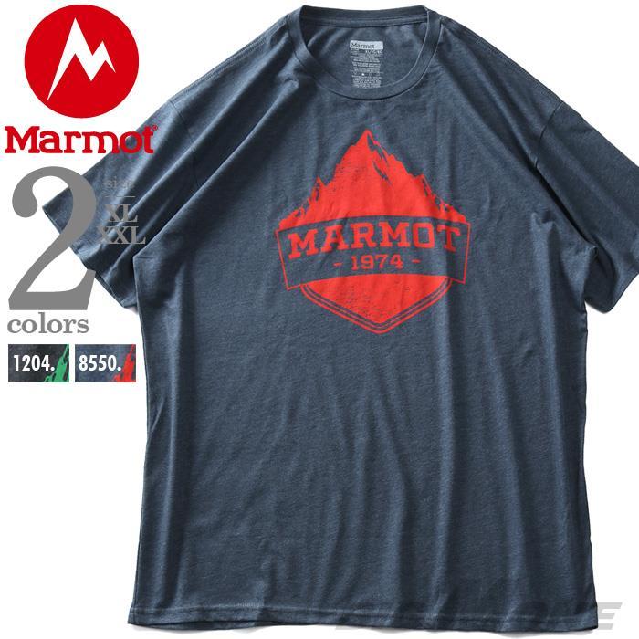 大きいサイズ メンズ Marmot マーモット プリント 半袖 Tシャツ Mono Ridge Tee USA直輸入 41470