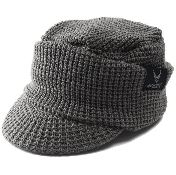 メンズ AVIREX アヴィレックス つば付き ニットキャップ オスロキャップ ニット帽 帽子 USA直輸入 14843700