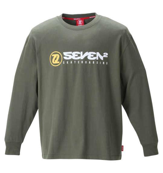 大きいサイズ メンズ SEVEN2 長袖 Tシャツ カーキ 1268-1300-1 3L 4L 5L 6L