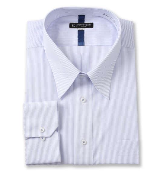 大きいサイズ メンズ HIROKO KOSHINO HOMME レギュラーカラー 長袖 シャツ サックス × ホワイト 1277-1301-1 4L 5L 6L 7L 8L 9L