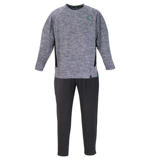 大きいサイズ メンズ Colantotte ACTIVE ベア天竺 ラグラン 切替 長袖 Tシャツ セット グレー 1279-1300-1 3L 4L 5L 6L 8L
