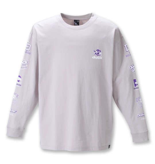 大きいサイズ メンズ b-one-soul DUCK DUDE 長袖 Tシャツ サンドベージュ 1258-1600-1 3L 4L 5L 6L