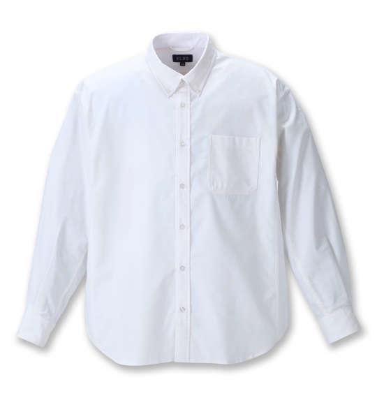 大きいサイズ メンズ EL.FO オックス B.D 長袖 シャツ ホワイト 1277-1310-1 2L 3L 4L 5L 6L 8L