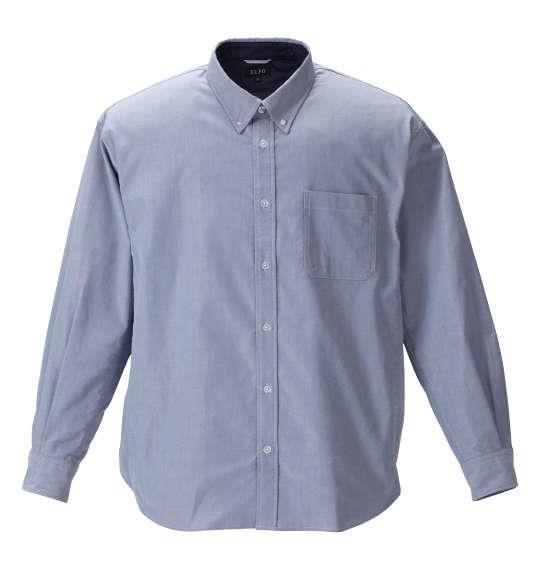 大きいサイズ メンズ EL.FO オックス B.D 長袖 シャツ ネイビー 1277-1310-2 2L 3L 4L 5L 6L 8L