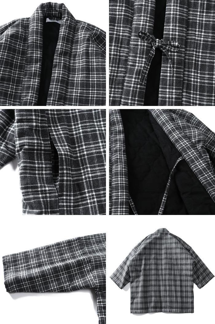 大きいサイズ メンズ DANIEL DODD フランネル 綿入り 半纏 秋冬新作 azhn-210501