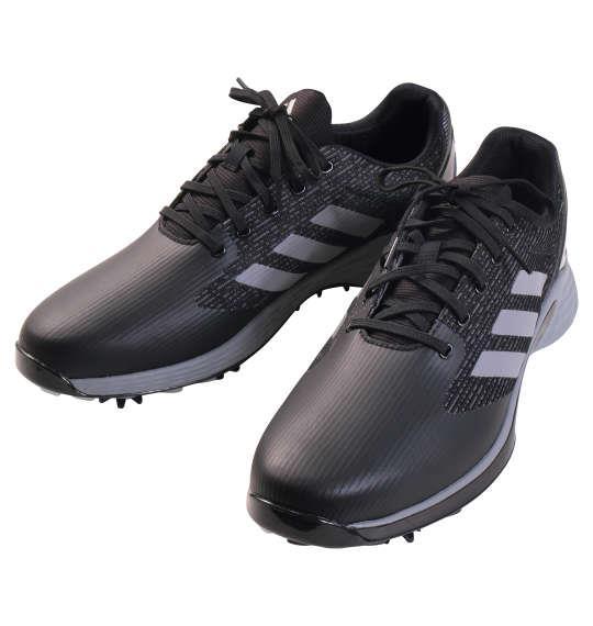 大きいサイズ メンズ adidas golf ゴルフ シューズ ゼットジー21モーション コアブラック × グレートゥー × グレースリー 1240-1321-2 30.5 31.5