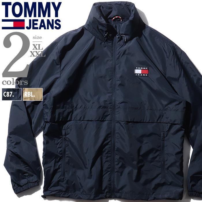 大きいサイズ メンズ TOMMY JEANS トミージーンズ フルジップ ナイロン ジャケット USA直輸入 dm0dm10963