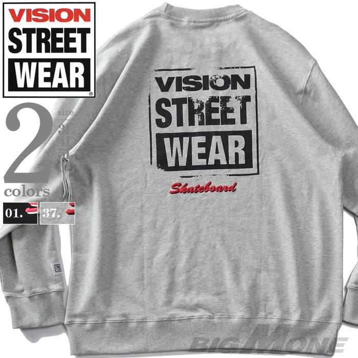 大きいサイズ メンズ VISION STREET WEAR プリント トレーナー 秋冬新作 1905703