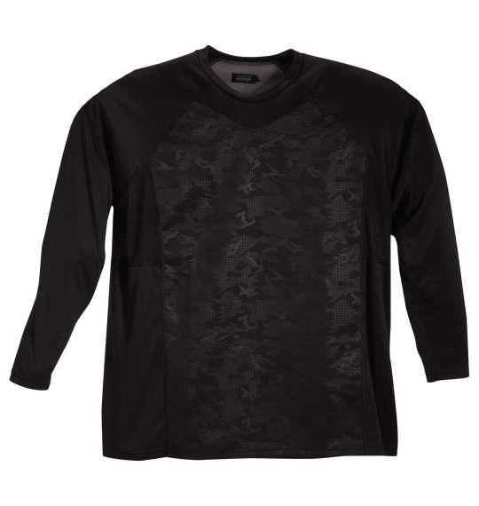 大きいサイズ メンズ BREEZE TEX HYPER 長袖 丸首 Tシャツ ブラック 1249-1311-1 3L 4L 5L 6L 8L