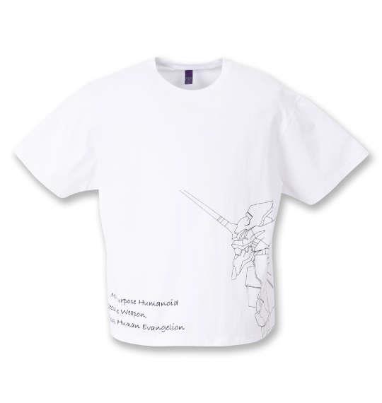 大きいサイズ メンズ F.P.O × EVANGELION 半袖 Tシャツ ホワイト 1278-1575-1 3L 4L 5L 6L 8L