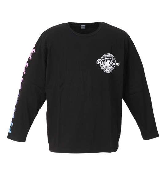 大きいサイズ メンズ RealBvoice 長袖 Tシャツ ブラック 1278-1385-2 3L 4L 5L 6L